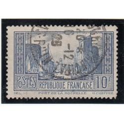 TIMBRE 10 FRS BLEU N° 261c  PORT DE LA ROCHELLE OBLITERE  COTE 200 Euros