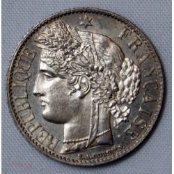 CERES - 1 Franc 1872 A (petit) Paris SPL/FDC