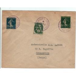 Oblitération violette Congrès 13 de Versailles du 10 8 1926, 5,10,25 C
