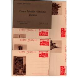 Série F1 S7 - Entier postaux 90 C La conciergerie avec légende et pochette sépia