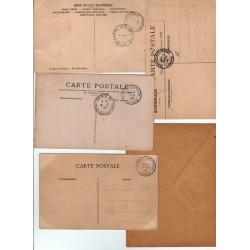 lot de CPA  Congrès de Versailles Élection d'Armand Fallières du 17 1 1906