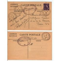 lot CPA  Congrès de Versailles Élection Lebrun du 5 4 1939