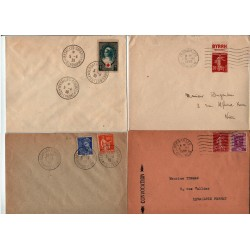 lot enveloppes Congrès de Versailles Élection Lebrun du 5 4 1939