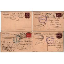 lot de 8 CPA  Congrès de Versailles Élection Lebrun du 10 4 1932