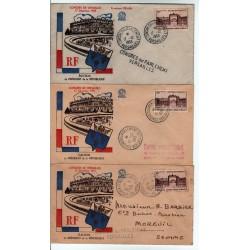 lot enveloppes  Congrès de Versailles Élection Coty du 17 12 1953