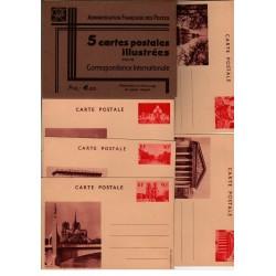 Série E2 S4- Entier postaux 90 C Vues de Paris sans légende et pochette