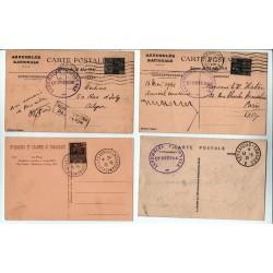 lot de 4 CPA  Congrès de Versailles Élection P. Doumer du 13 5 1931