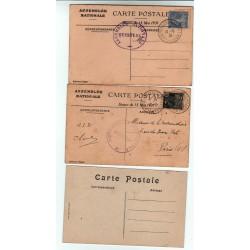 lot de  CPA  Congrès de Versailles Élection P. Doumer du 13 5 1931