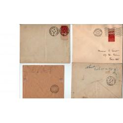 6 enveloppes  Congrès de Versailles Élection P. Doumer du 13 5 1931