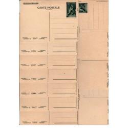 Série J1 S- Entier postaux 50 C Mémorial Canadien de Vimy
