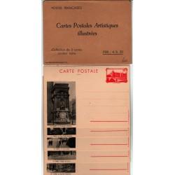 Série F1 S7 - Entier postaux 90 C La conciergerie avec légende et pochette noir