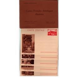 Série F1 S7 - Entier postaux 90 C La conciergerie avec légende et pochette brune