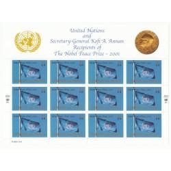 LOT BLOCS ONU Genève 2001 FDC  remise du Prix Nobel de la paix NEUF**