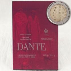 Saint Marin 2015 2 euro pièce commémorative, San Marino Dante