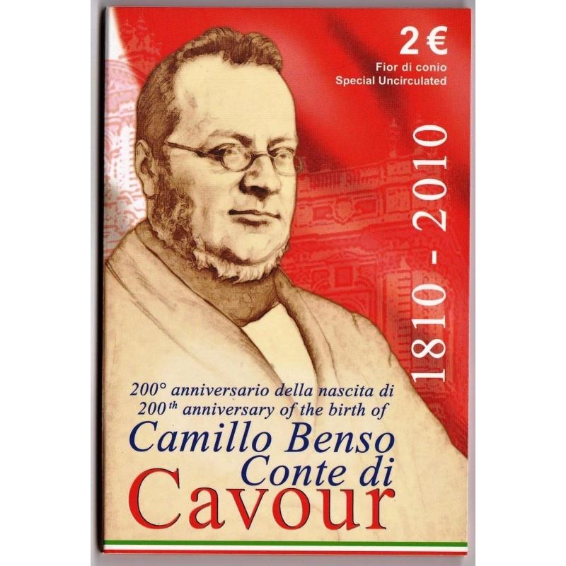 ITALIE Coffret BU 2 euro COMMEMORATIVE 2010 Camillo Benso Conte di Cavour