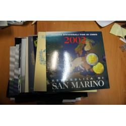 13 COFFRETS  SAN MARINO 2002 à 2013 BU NEUF