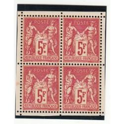 TIMBRES ANNEE 1925 BLOC DE 4 N° 216 NEUF Côte 640 Euros