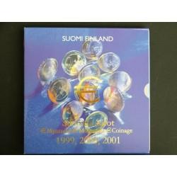 Triple coffret euros FINLANDE  1999, 2000 et 2001