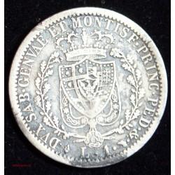 1 LIRE CHARLES FELIX ITALIE 1827 TURIN