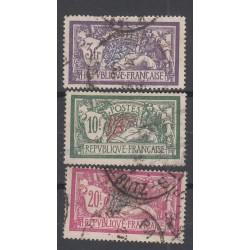 TIMBRES TYPE MERSON N°206/207/208  /ANNEE 1925 Oblitérés  Côte 65 Euros