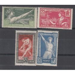 ANNEE 1924 TIMBRES JEUX OLYMPIQUES DE PARIS N°183 à N°186