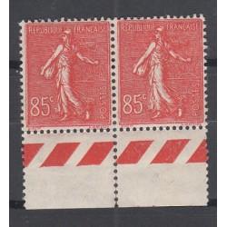 BLOC DE 2 TIMBRES N°204 ANNEE 1924 TYPE SEMEUSE  NEUF**   Côte 54  Euros