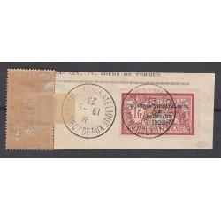 TIMBRES N°182 oblitéré sur fragment + sur charnière Congrès Bordeaux Année 1923 signé Calvès