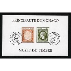 BLOC FEUILLET 1992 non dentelé MONACO 58a ** Musée du timbre LUXE