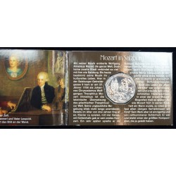 Mini coffret AUTRICHE 5 Euro 2005 Wolfgang Amadeus Mozart