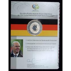 BLISTER ALLEMAGNE, DEUTSCHLAND SILVERMÜNZE 10 Euro 2006 FIFA