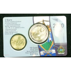 BLISTER SAN MARIN 2010, 2 EURO ET 10 CENT