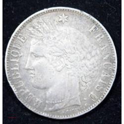 CERES - 5 FRANCS 1870 K (M à 2 heures) F.332.5