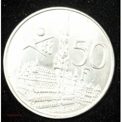 BELGIQUE - 1 Franc 1830-1880 50e anniversaire de l'Indépendance belge Léopold II