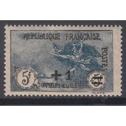 TIMBRE N°169 1f. s. 5+5f. Orphelin Surchargé NEUF** Signé Côte 350 Euros