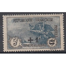 TIMBRE N°169  1f. s. 5+5f.  Orphelin Surchargé NEUF** TBC Signé Côte 350 Euros