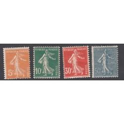 4 TIMBRES SEMEUSE 1921 NEUF** Côte 109.50 Euros