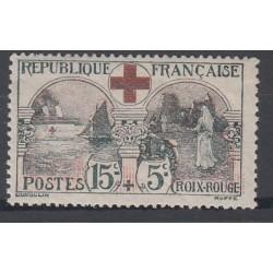TIMBRE N°156 15 c. + 5 c. CROIX ROUGE 1918 NEUF** Signé Côte 300 Euros
