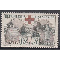 TIMBRE N°156 15 c. + 5 c. CROIX ROUGE 1918 NEUF** TBC Côte 300 Euros