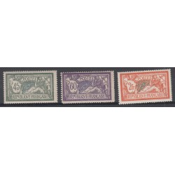 3 TIMBRES TYPE MERSON N°143 à 145 1907 NEUF** Côte 273 Euros