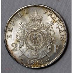 NAPOLEON III - 2 Francs 1868 A Paris qualité SPL