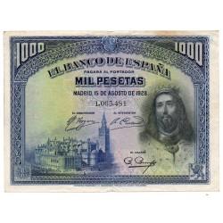 1000 Pesetas 15 Aug 1928