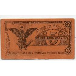 Mexique 5 Centavos Pick S697