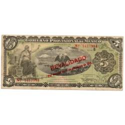 Mexique 5 Pesos Pick S702