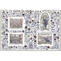 BLOC SALON DU TIMBRE 2014 N.135 NEUF