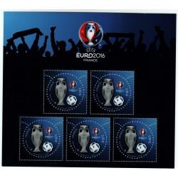 BLOC FEUILLET SPECIAL Salon du timbre PARIS PHILEX 2016 UEFA EURO 2016 NEUF