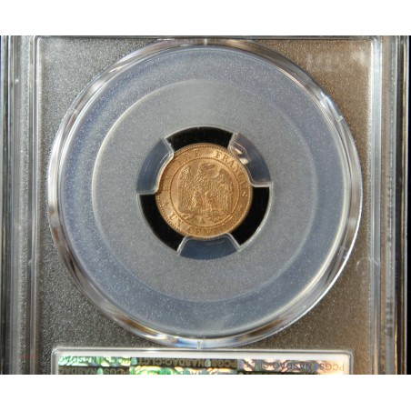 NAPOLEON III 1 Centime 1861A PCGS MS65RD P/FDC