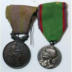 Lot de médailles: Confédération musicale de France & sté musicales et chrorales