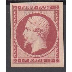 TIMBRE NAPOLEON N°18 - 1 Fr. neuf* réimpression 1862 signé Calvès