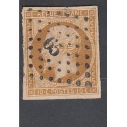 TIMBRE NAPOLEON N°9 - 10 C. Présidence oblitéré signé Calvès
