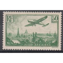 TIMBRE N°14 20 f. vert-jaune - 1936 - NEUF Bord de feuille - Signé Calvès - Côte 2000 Euros
